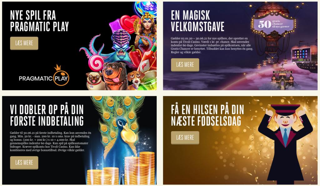 Aktuelle kampagner hos Tivoli Casino