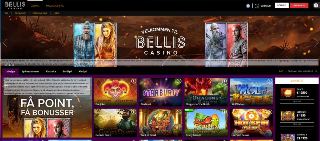 Bellis Casino forside