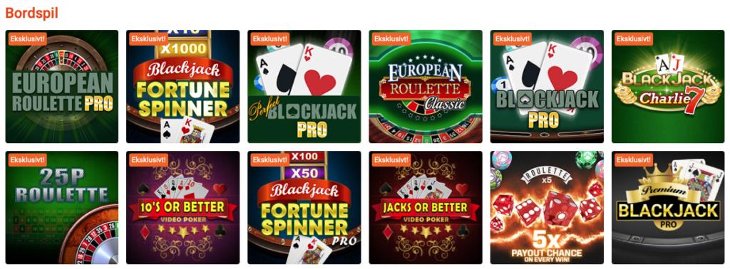 Bordspil hos Party Casino