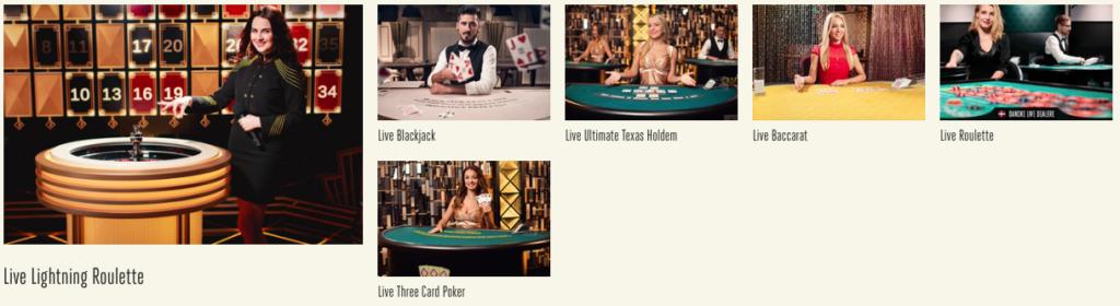Live casino hos Tivoli Casino