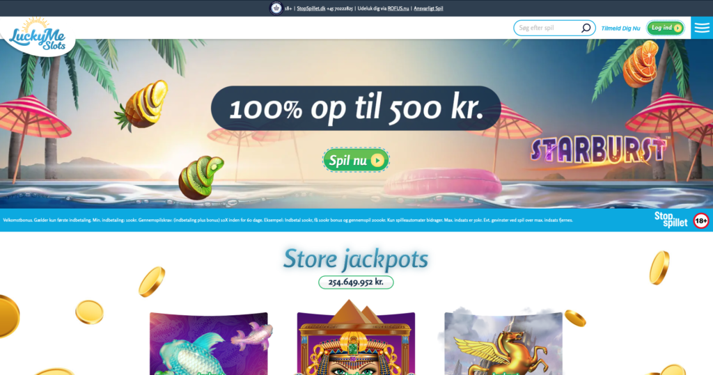 LuckyMe Slots forside