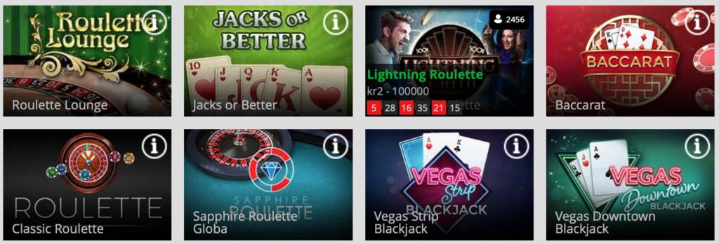 Magic Red Casino bordspil