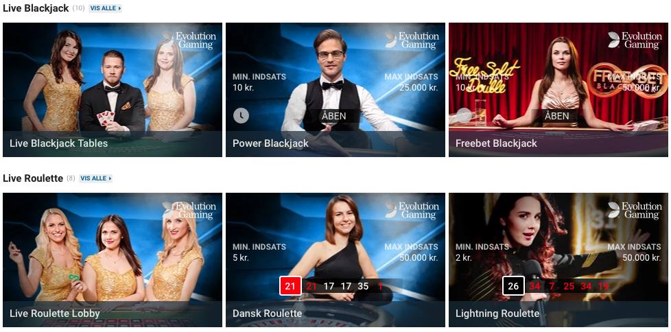 NordicBet live casino
