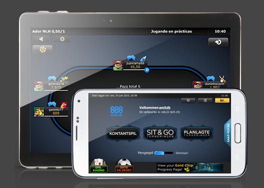 Spil 888poker fra mobilen