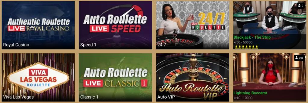Spil live casino hos Lanadas Casino