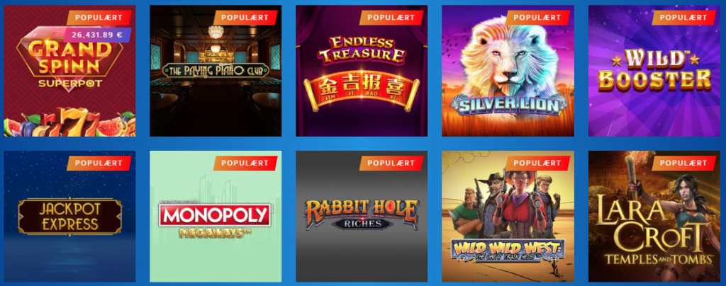 Stort udvalg af casinospil hos AHTI Games