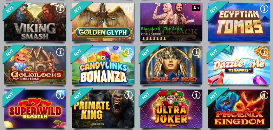 Stort udvalg af spilleautomater hos Karamba