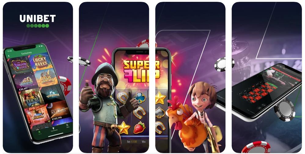 Unibet mobil casino app