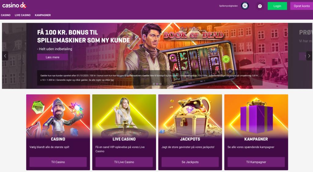 Casino.dk anmeldelse forside