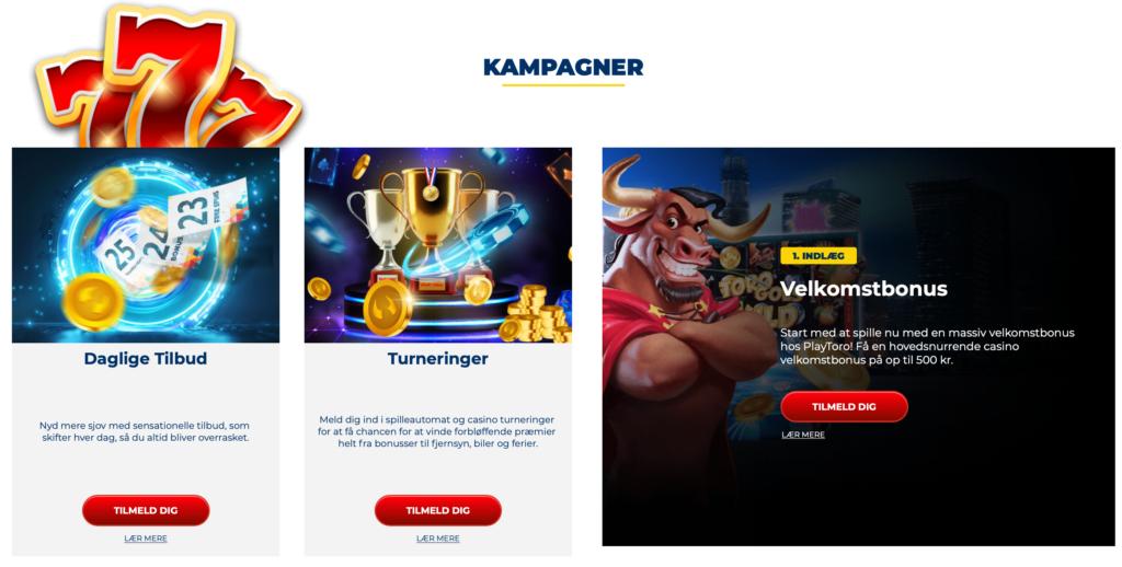 Kampagner hos PlayToro.dk