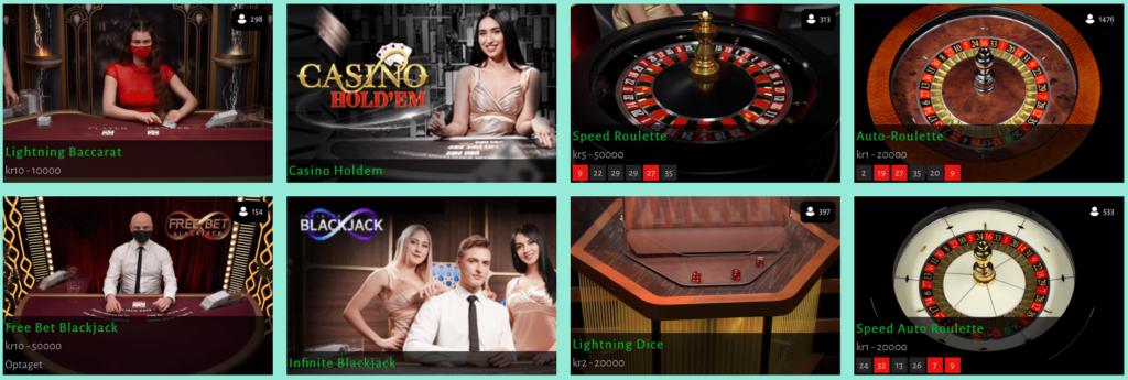 Live casino hos Billion Casino