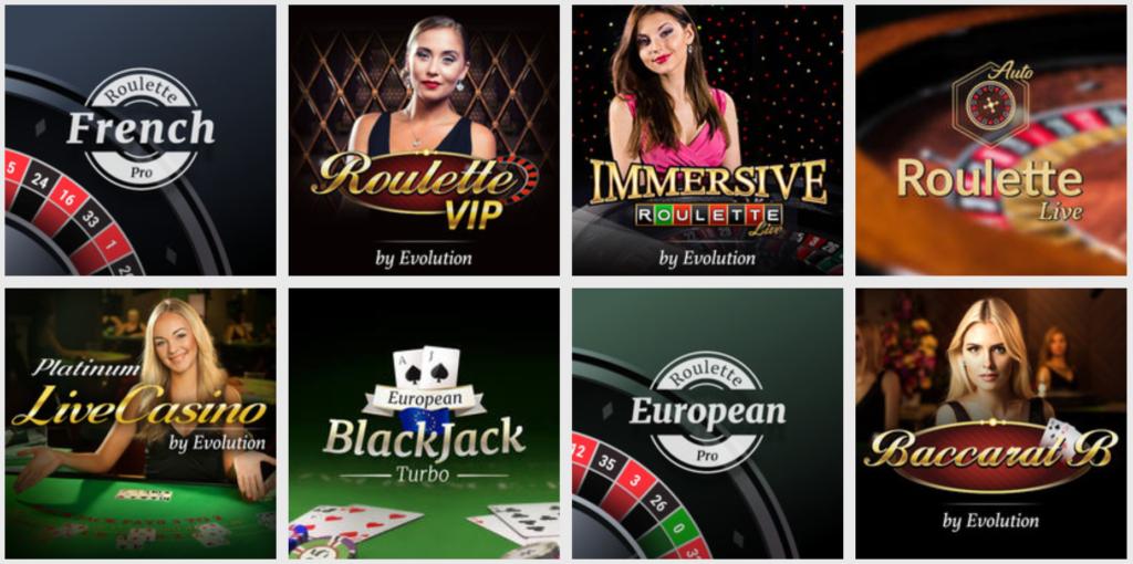 Live casinoet hos Lucky Vegas