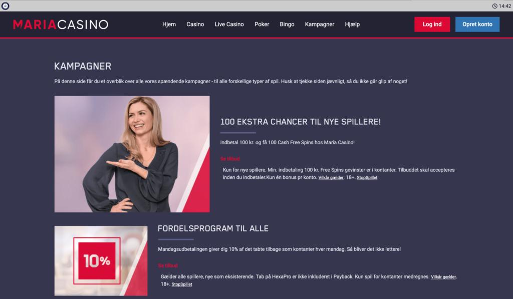 Maria Casino kampagner
