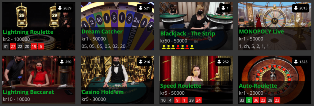 Mr Spil live casino