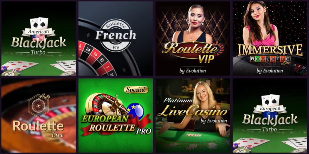 Spil live casino RoyalBet Casino