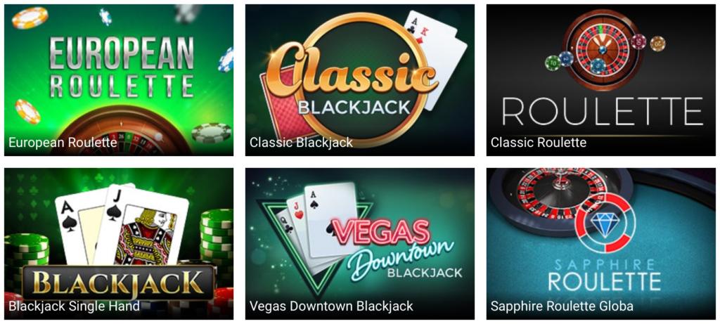 Stort udvalg af bordspil hos Jambo Casino