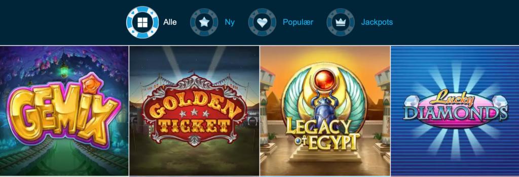 Stort udvalg af spilleautomater hos Ice36