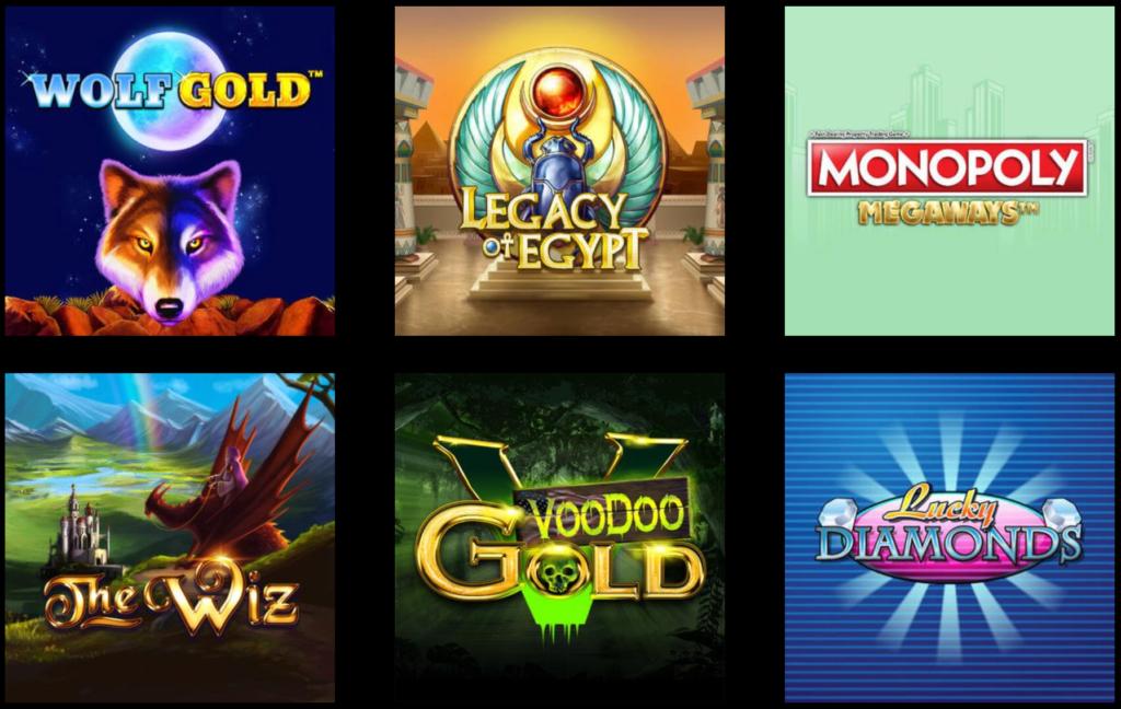 Udvalgte spilleautomater fra Mega Casino