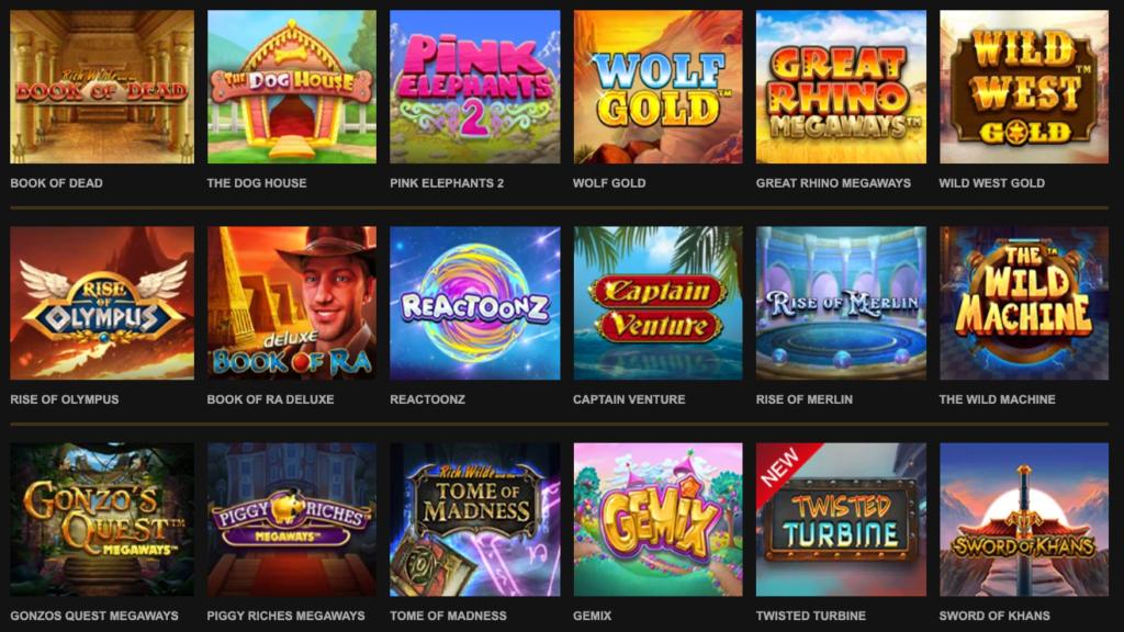 VideoSlots store udvalg af spillemaskiner