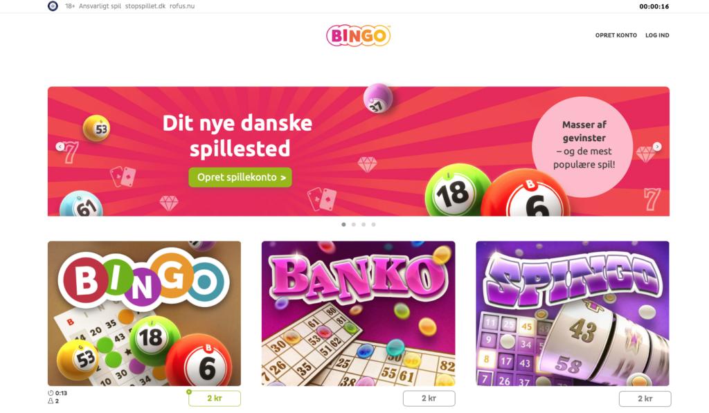 Bingo.dk forside