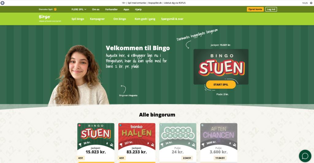 Danske Spil Bingo forside