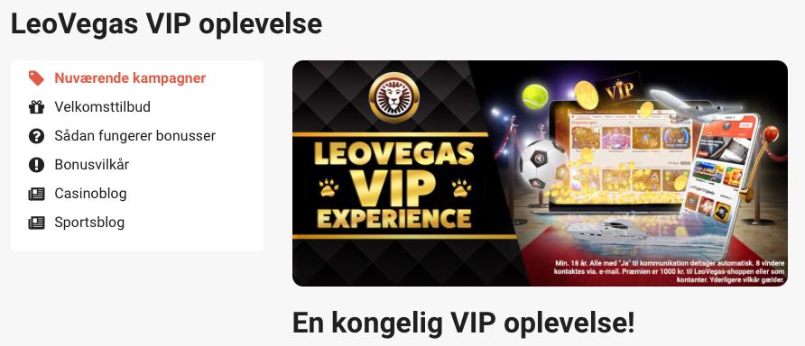 LeoVegas' VIP-program