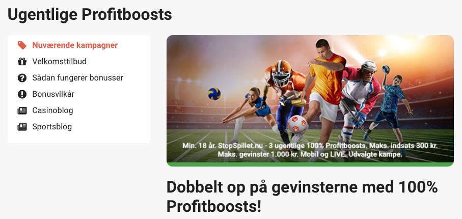 Profitboosts kampagne hos LeoVegas Sport